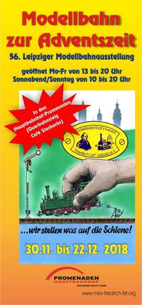 56. Modellbahnausstellung zur Adventszeit